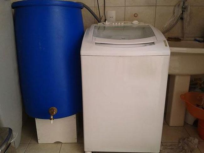 Fabuloso Como economizar água com o reuso da máquina de lavar roupas GI39