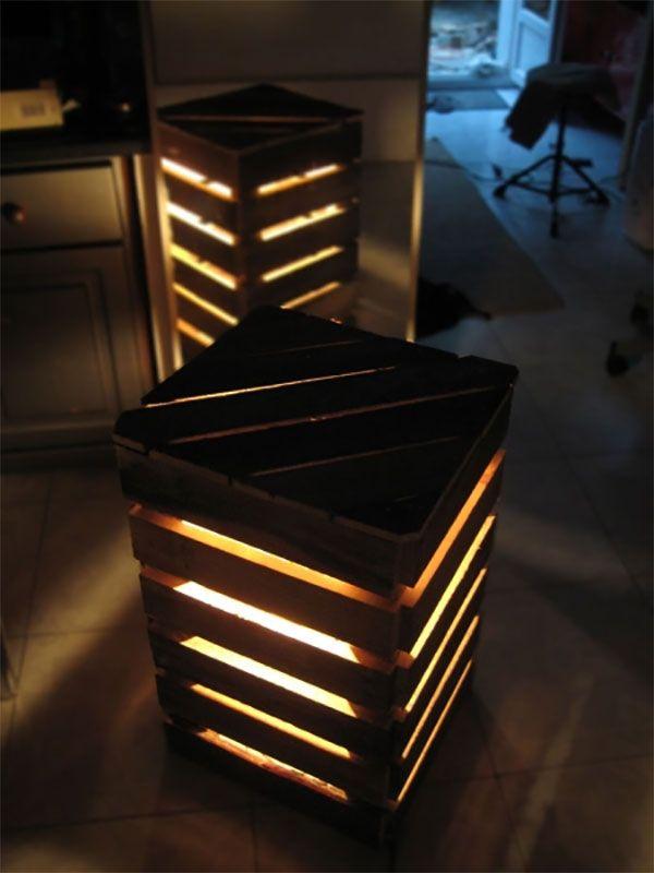 15 ideias para reutilizar caixotes de madeira na decoracao. Black Bedroom Furniture Sets. Home Design Ideas